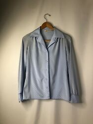 Vintage Jo Matthews Career Blouse Size 9/10 Made In The Usa With Union Made Tag