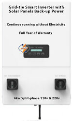 Grid-tie Inverter 5.5kw Split-phase 110v And 220v Work Without Utility Nor Battery