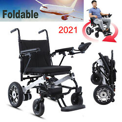 New 12a Folding Electric Wheelchair Travel Power Wheel Chair Mobility Aid 220lbs