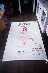 Coca Light Karl Lagerfeld Style A 4x6 Ft Bus Shelter Advertise Poster Original
