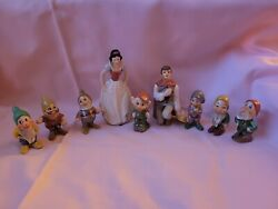 Goebel Snow White, Charming, And The Seven Dwarfs Set Extremely Rare