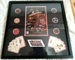 Autographed Fallout New Vegas Signed Display By Obsidian Development Team