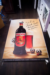 Picon Liquor French Touch Style D 4x6 Ft Original Vintage Advertising Poster