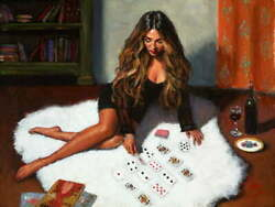 Solitare Signed Limited Edition Print By Fabian Perez