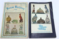 Lot Of 2 Vintage Jim Beam Bottles Identification And Price Guide Book 1968/1969