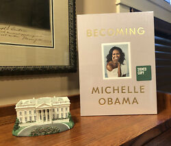 [new] Becoming Deluxe Signed Edition By Michelle Obama [2019 / Hardcover] Sealed