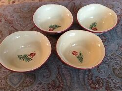 Set Of Four Southern Living At Home Gail Pittman Siena Soup Cereal Bowls