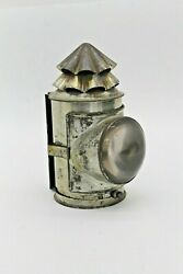 Nearly N.o.s. Police / Boat Signal Hand Lantern - Whale Oil - Amazing Tin Plate