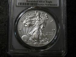 2019 W Burnished Silver Eagle Pcgs Sp70 First Day Of Issue