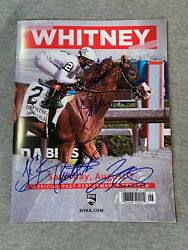 2021 Whitney Stakes Saratoga Official Race Day Program- Signed By All Jockey 2