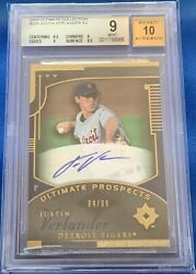 64/99 Bgs 9 10 Justin Verlander 2005 Ud Ultimate Collection Auto Rc Rare Sp