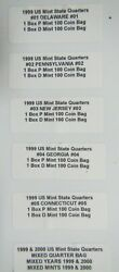 All 10 1999 Pandd State Quarter Sealed Bags Of 100 Quarters 1000 Quarters Total