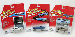 Lot Of 8 Johnny Lightning Die-cast Cars 6 Muscle Cars U.s.a. 1 Ragtop 1 Ad Rods