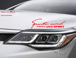 Sports Mind Powered By For Lexus Sport Performance Decal Sticker Racing Cars