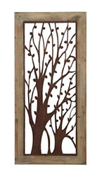 Deco 79 85972 Enchanting Wall Plaque With Garden Trees 26x1x56