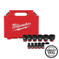 Shockwave 3/8 In. Drive Sae And Metric 6 Point Impact Socket Set 10-58 Piece