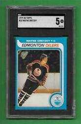 1979-80 Topps 18 Wayne Gretzky Strong Rookie Sgc Ex 5 Rc Old Hockey Card