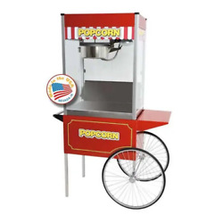 Classic Pop 16 Ounce Popcorn Machine With Large Cart Combo