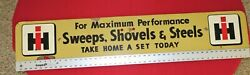 Rare Ih Masonite/wood Sweeps Shovels And Steels Double Sided 48 X 8 X 1/4 Sign