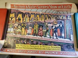 Vtg 1960 The Barnum And Bailey Greatest Show On Earth Poster Circus World Museum