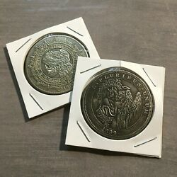 Skulls And Angel Coin Lot Of 2 Novelty Lucky Heads Tails Challenge Coins Us 501