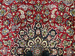 10x14 Red Antique Rug Hand-knotted Wool Vintage Handmade Oriental Carpet 10x13