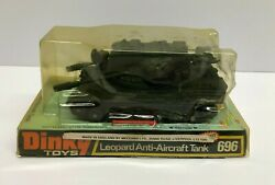Vintage 1970s Dinky Toys Leopard Anti-aircraft Tank 696 In Original Packaging