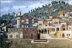 Ls042, 47.24×70.87 Middle Eastern City Mosaic Wall Art