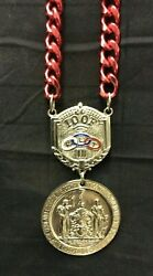 Vintage Odd Fellow Medallion Necklace The Sovereign Grand Lodge Ioof 1834