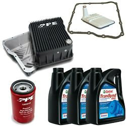 Acdelco Allison 1000 Transmission Kit And Ppe Black Deep Pan For 01-19 Gm Trucks