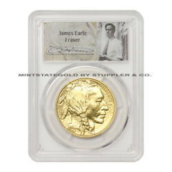 2017 50 Gold Buffalo Pcgs Ms70 First Strike American Graded 1 Oz Coin W/ Fra...