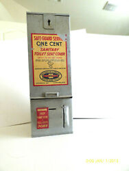 Toilet Seat Cover Dispenser Vintage Metal Safe-guard Penny One Cent Rare