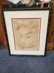 Original Pencil Sketch Of An Hawaiian Woman By Artist Madge Tennent Sign1950and039s