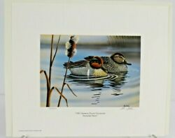 1987 Georgia Ducks Unlimited Sponsors Prints Numbered And Artist Info