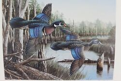 1988 Georgia Ducks Unlimited Sponsors Prints Numbered And Artist Info