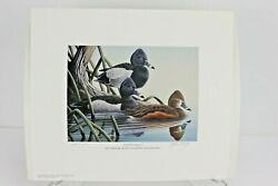 1989 Georgia Ducks Unlimited Sponsors Prints Numbered And Artist Info