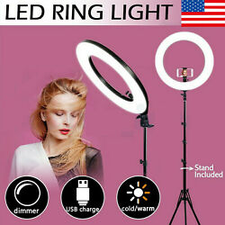 18 Led Ring Light Camera Lamp Tripod Stand Phone Holder For Video Live Makeup