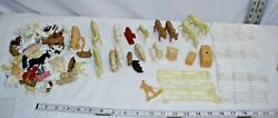 Marx Farm Play Set Large Parts And Pieces Lot Animals And Accessories