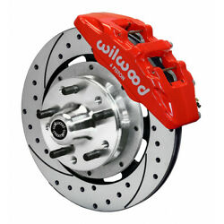 Wilwood For Chevy Camaro 67-69 Brake Kit Dynapro 6 Hub Drilled Front 12.19in Red