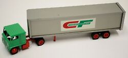 Winross Consolidated Freightways Cf White Semi-truck Cargo Trailer Flat Tires