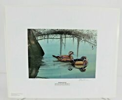 2002 Georgia Ducks Unlimited Sponsors Prints Numbered And Artist Info
