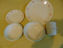 24 Piece Forever Yours Corelle Dinnerware Dishes