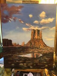 Monument Valley West Mitten Large 30 By 24 Inches Original
