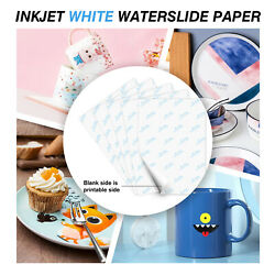 A SUB Waterslide Decal Paper WHITE for Inkjet 5 Sheets 8.5x11 Water Slide Decor
