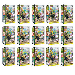 15 X Pokemon Cards Sword And Shield Eevee Heroes Booster Box S6a Korean Ver Seal