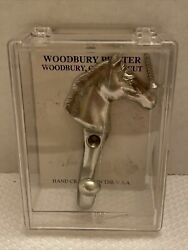 Woodbury Pewter Hook Horse Home Decor Sealed Metalware Collectible
