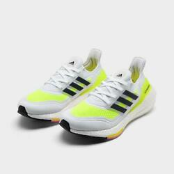 Adidas Ultraboost 21 White Core Black Solar Yellow Fy0401 Womenand039s Size 6-10
