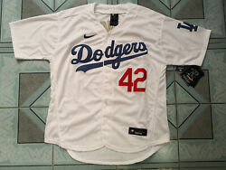 🔥ship From Usajackie Robinson 42 Los Angeles Dodgers Baseball White Jersey