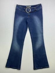 Rampage Industrial Jeans Size 1 Blue Bootcut