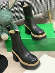 Cow Leather Tpu Thick Bottom Boots Fashion Shoes Women 35-40 Top Quality 2021new